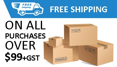 Free shipping on all purchases over $99+GST